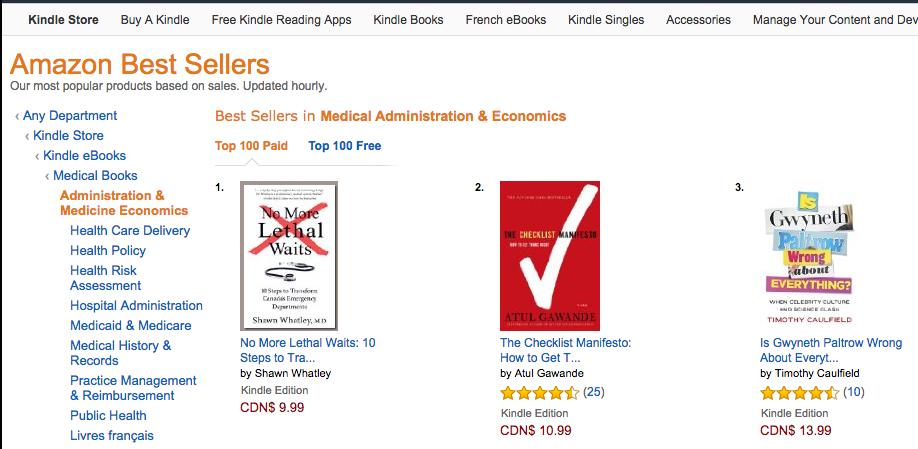 #1 Amazon Kindle Best Seller